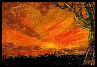 Photo: Sunlight. 6 x 4 in. Acrylic on canvas sheet. Signature on the front; title and signature on the back. Sealed with a non-yellowing glossy varnish. Marisol McKee © 2010