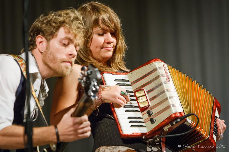Photo: David Quanbury and Brandy Zdan of Twilight Hotel at Deep Roots Music Festival - photo Steven Kennard