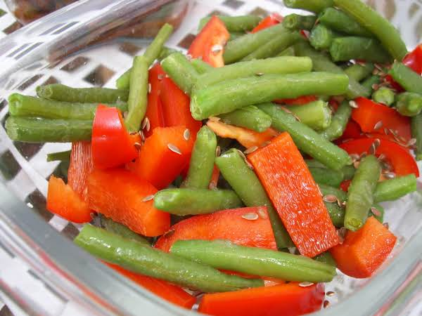 Sesame Green Beans & Peppers Recipe