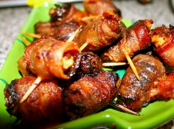 Date And Asiago Cheese Bacon Wraps Recipe