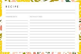 Fresh Ingredients - Recipe Card item