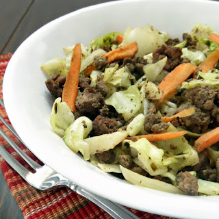Easy Beef and Cabbage Stir Fry.