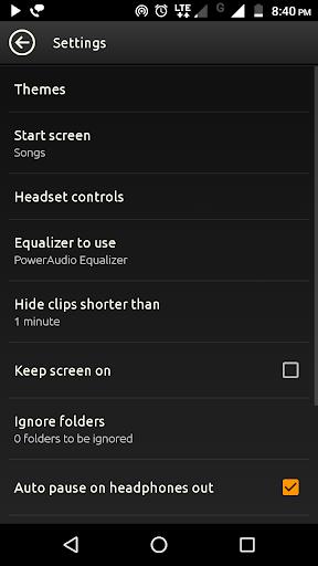 PowerAudio Free - Music Player   Audio Player 5.0.4 screenshots 8