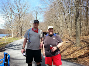 Photo: Our official first finishers. 16 miles in the  books for these two.