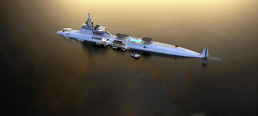 What the Migaloo private submersible yacht will look like.