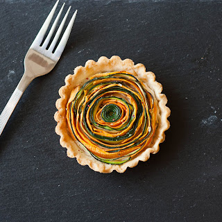 Spiral Vegetable Tartlet.