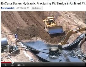 Photo: EnCana. Fermeture de site et enfouissement des boues de forage:  http://www.youtube.com/watch?v=-ZijSwabuc4