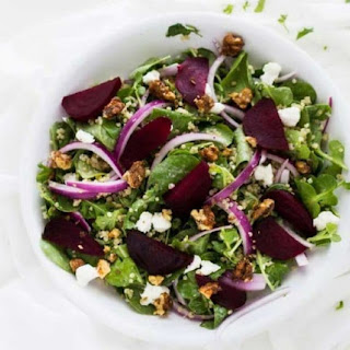 Roasted Beet Salad with Goat Cheese & Quinoa Recipe