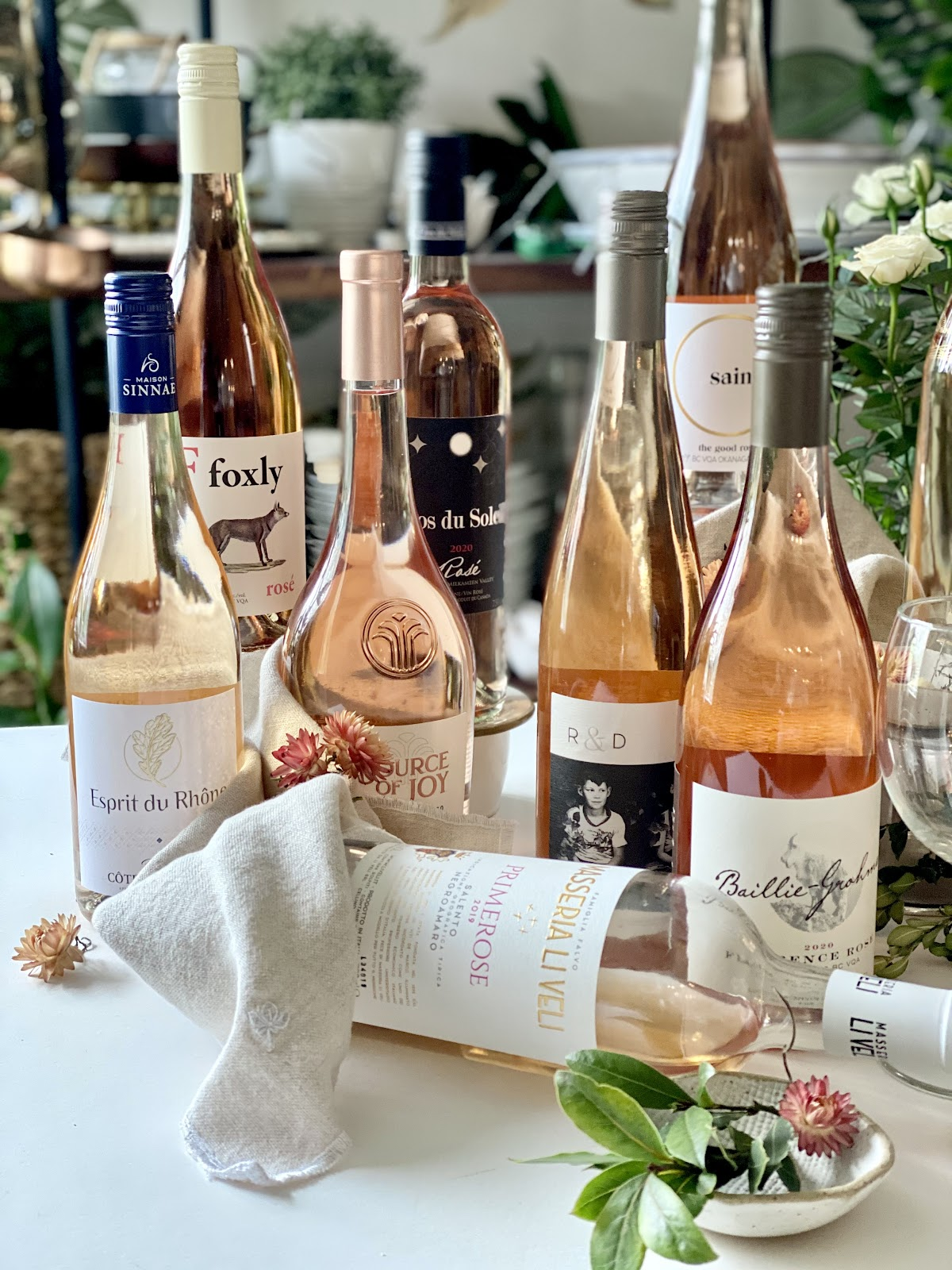 alison kent the home kitchen 5 week series blog on rose wine with barb wild of the good wine gal rose wines selection featuring a variety of rose wines