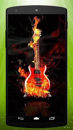 Fire Guitar Live Wallpaper