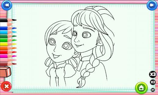 Coloring Elsa Anna Games - náhled
