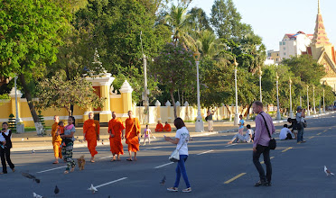 Photo: Even the Monks like to promenade at dusk.