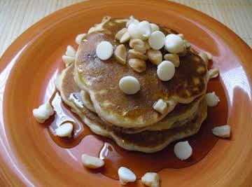 White Chocolate Chip Macadamia Nut Pancakes