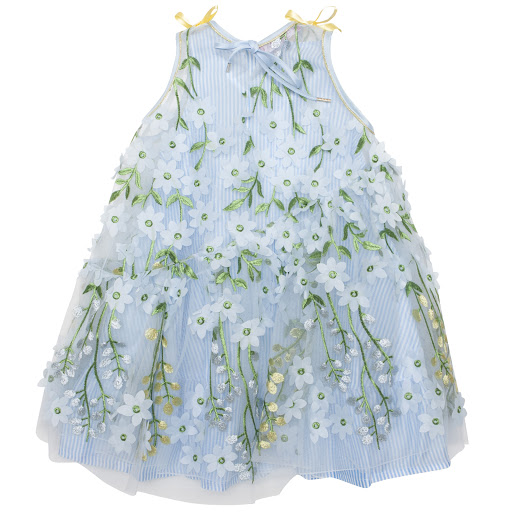 Thumbnail images of ValMax Embroidered Tulle Dress
