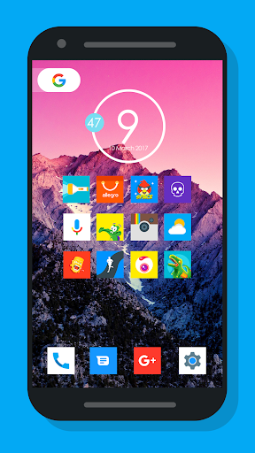Nougat Square - Icon Pack Aplicaciones para Android screenshot