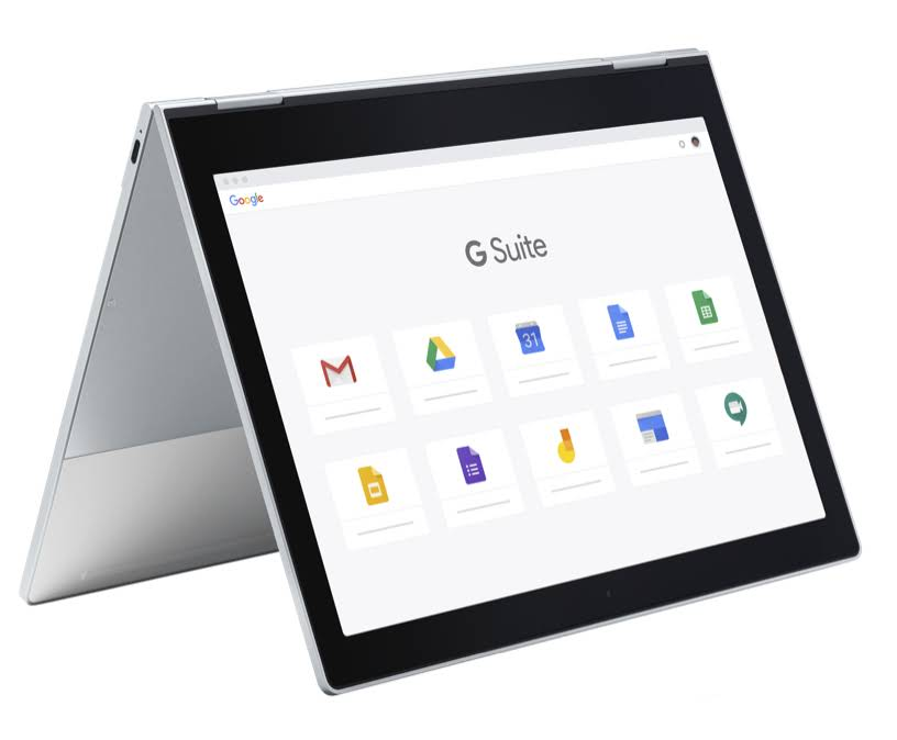 Computador com as ferramentas do G Suite for Education