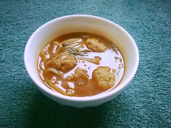 Thai Roasted Red Chile Soup With Pork Meatballs Recipe