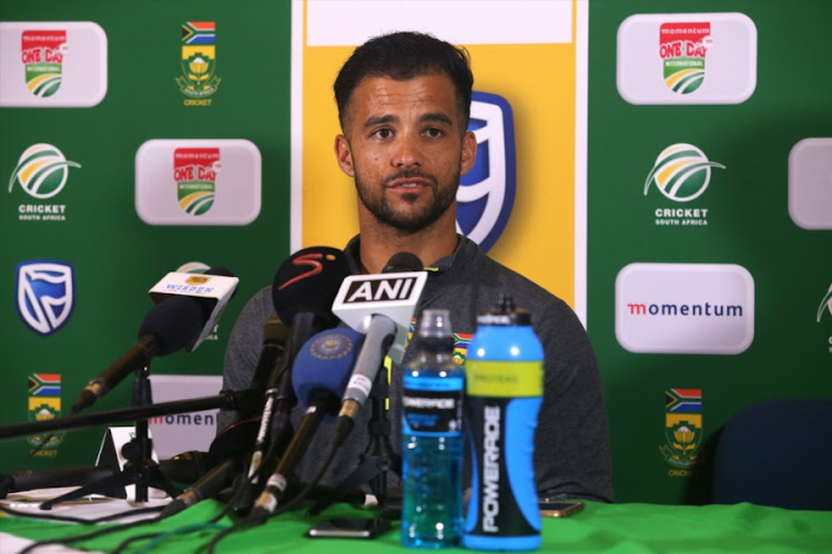 South Africa all-rounder JP Duminy speaks to the media during the post-match press conference after the 3rd Momentum ODI match against India at PPC Newlands on February 07, 2018 in Cape Town, South Africa.