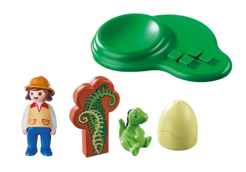 Contenido real de Playmobil® 9121 Huevo de Dinosaurio