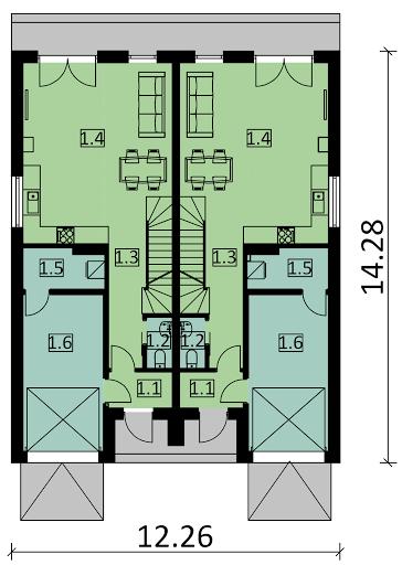 Ka62 - Rzut parteru