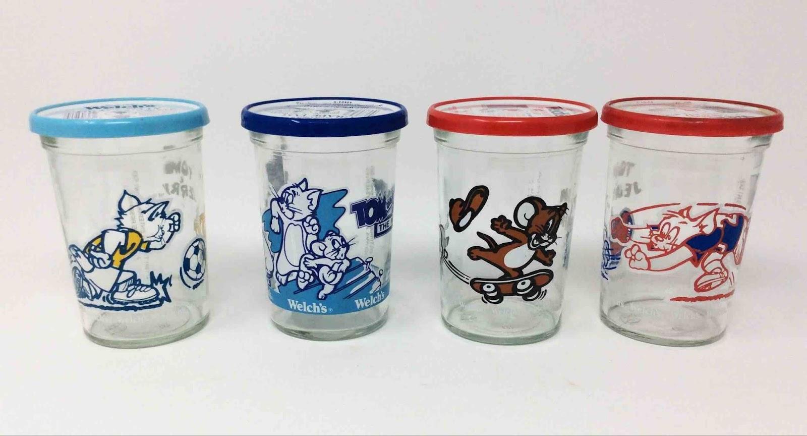 Vintage Tom & Jerry jelly jars