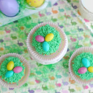Easter Grass Cupcakes.