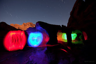 Photo: Light Painting in Valley of Fire