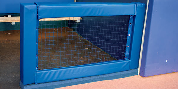 Vertical Post Pad for Dugout Fence