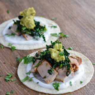 Tequila Lime Fish Tacos with Kale.