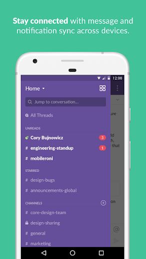 Screenshot 3 for Slack's Android app'
