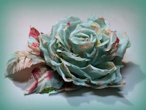 Photo: Роза из цветного шелка