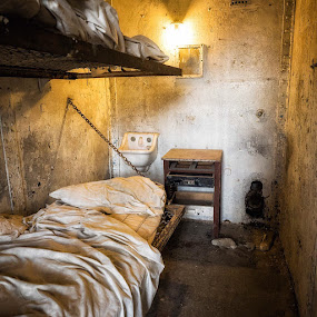 Your Room is Ready by Hamish Carpenter - Buildings & Architecture Decaying & Abandoned ( #mansfieldreformatory #prison #cell #ohio #decay #bed #concrete #shawshank )