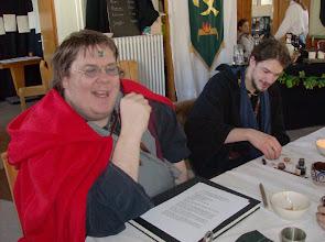 Photo: Dragomir (möglicherweise ein Metall-Drache) und Eon (möglicherweise ein Zeitelementar).