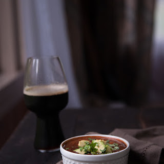 Slow Cooker Gojuchang Stout Black Bean Soup