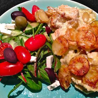 Lax med Potatis Gratäng – Salmon and Potatoes au Gratin