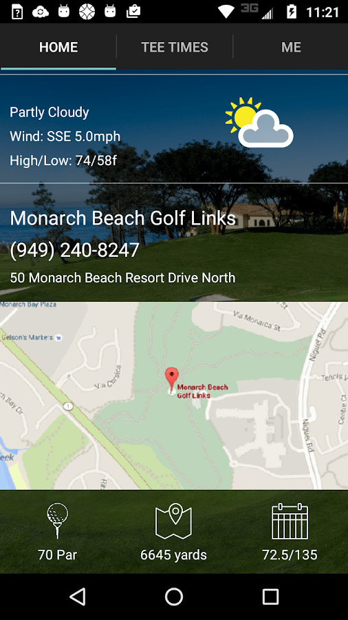 Monarch Beach Tee Times- screenshot
