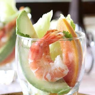 Shrimp, Avocado and Papaya Salad.