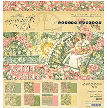 Graphic 45 Double-Sided Paper Pad 8X8 24/Pkg - Garden Goddess