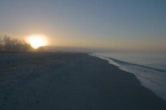 Photo: Misty sunrise at the beach