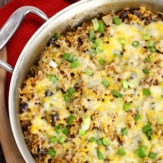 Southwest Beef and Rice Skillet Meal.