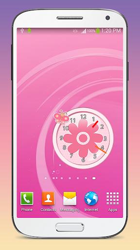 ピンク クロック ウィジェット