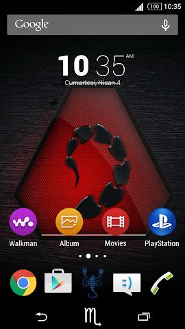 android For Xperia Theme Scorpio Screenshot 0