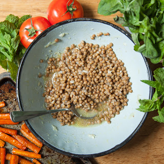 Honey Roasted Carrot Lentil Salad (for two).