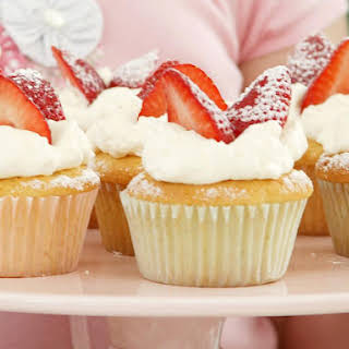Strawberry Vanilla Cupcakes.