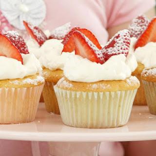 Strawberry Vanilla Cupcakes.