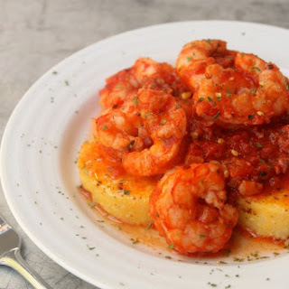 Spicy Italian Shrimp and Polenta for Two