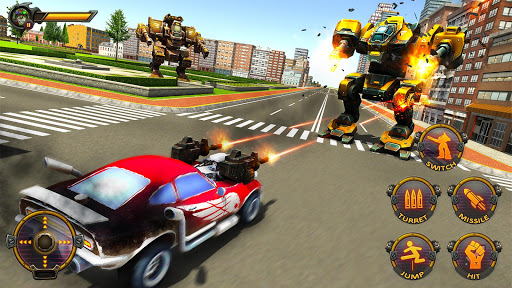 Robot Car War Transform Fight  screenshots 7