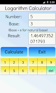 Logarithm Calculator Pro Screenshot