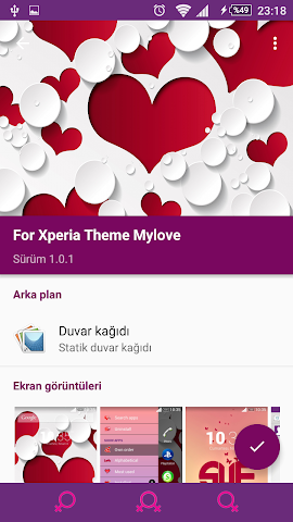android For Xperia Theme Mylove Screenshot 6