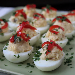 Spanish-Style Deviled Eggs with Tuna (Huevos Rellenos De Atun) Adapted From the New Spanish Table Recipe